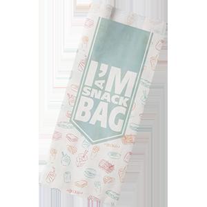 I'm a concept snackzak, ersatzpapier, 16.5, 32cm, I'm a snack, wit